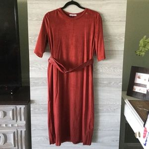 NWT Zara Luxury Classic Suede Dress
